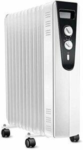 BD.Y Réchauffeur électrique Vitesse Chauffage à Huile Chaude Réservoir d'eau d'humidification Externe 11 pièces élargies, réglage de la Puissance à 3 Vitesses 1200W / 600W (Taille: 2100W)