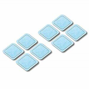 Beurer EM 59 Heat coussins en gel, kit de rechange pour EM 59 avec chaleur numérique TENS/EMS avec 8 électrodes auto-adhésives, dimensions : 45x 45 mm