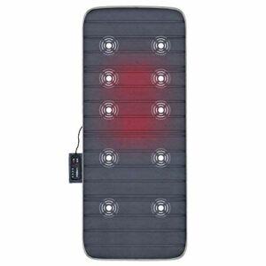 Comfier Tapis de massage électrique pour massage complet du corps – Matelas de massage par vibration avec 10 moteurs et fonction de chauffage, système de protection contre la surchauffe