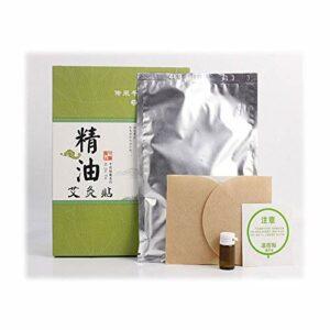 Compresse chaude à base de plantes, patch de moxibustion auto-chauffant sans fumée avec huile essentielle pour la douleur et le méridien (5 pièces)