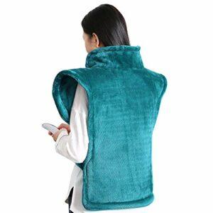 Coussin chauffant pour le dos, les épaules et le cou Surface ultra douce Chauffage rapide avec température réglable Gardez au chaud par temps froid