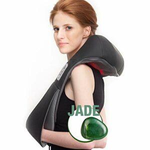 Donnerberg Basic Jade Appareil de massage de la nuque et des épaules avec chaleur infrarouge 2 têtes de massage recouvertes de jade