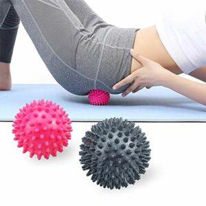 Ealicere 2 pièces Balles de Mmassage Ball, Muscle Relax,boule de massage boule hérisson, balles de massage pour massage du dos, des jambes, des pieds et des mains