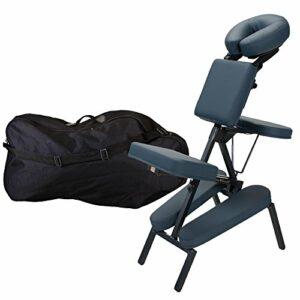 Earthlite INNER STRENGTH Chaise de Massage Portable Element – Fauteuil de massage thérapeutique Tattoo Spa incl. Appui-tête et étui de transport réglables de luxe – 100% PU (seulement 7kg)