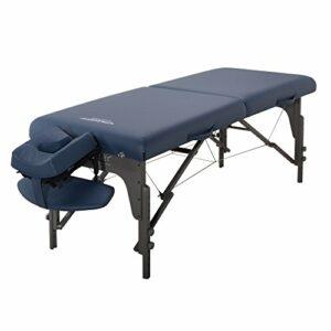 Master Massage Monclair Table de massage pliable Bleu roi 71 cm