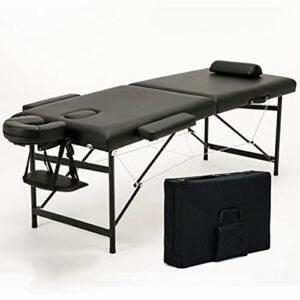 Middle Table de Massage multifonctionnelle Pliante Super Douce, Cuir PU de Haute qualité et éponge Haute densité pour Les Tatouages et Le Massage du Visage (Charge 250 kg)