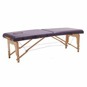 Middle Table de Massage Pliante en 2 Sections, Cadre en hêtre, Table de Massage Portable à Hauteur réglable, Peut être utilisée pour Le Tatouage et Le Massage du Visage