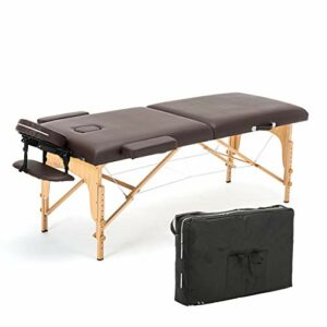 Middle Table de Massage Portable, Table de Massage Ergonomique, Options Multiples, Table de Massage d'acupuncture de Tatouage (Cuir PVC)