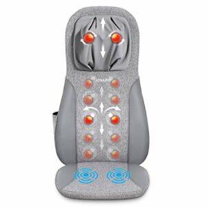 Naipo Massage du Dos Siège de Massage Coussin Massant pour Entier Dos et Cou avec -Siege Massant pour massage du cou et du dos dans le bureau à domicile