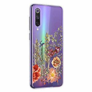 Oihxse Mandala Motif Case Compatible pour Samsung Galaxy S11 Coque Transparente Silicone TPU Souple Protection Etui Ultra Slim Mehndi Floral Datura Dentelle Housse Bumper (A17)
