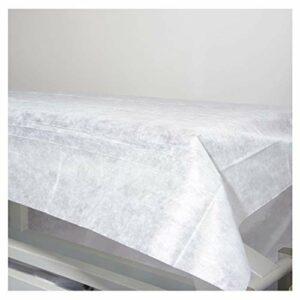 Pimpam Factory – 50 Draps jetables non réglables en tissu 100 % recyclables de 80 x 200 cm   Imperméable et hypoallergénique   Idéal pour les lits, les tables de massage, les lits d'hôpital