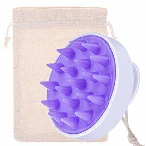 Silicone Brosse de Masseur Tête Shampooing Brosse pour Cheveux Mouillés et Secs, Masseur du Cuir Chevelu pour Femmes, Hommes, Animaux Domestiques