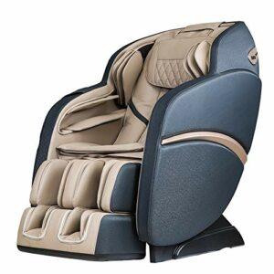 SUFUL – Fauteuil de massage S6, massage du cou, du dos, des jambes, des pieds, rail S + L, avec haut-parleur Bluetooth (blanc bleu).