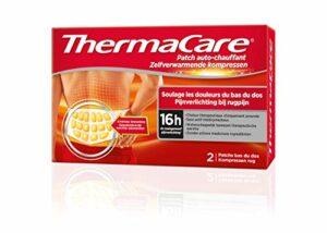 ThermaCare – Patch Auto-chauffant Dos – Soulage les douleurs du bas du dos – 8H de chaleur constante – Boîte de 2 patchs dos