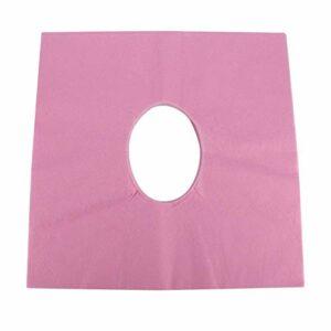 Uxsiya Couvre-lit de Massage Table Oreiller Tissus Spa Traitement Couverture de lit pour Le Corps Humain Propre pour Salon de Coiffure(【Pink】 Sun Hole Towel)