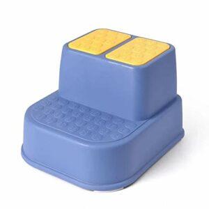 XIAOYUER Bébé Marchepied Antidérapant Portable Enfants Tabouret Pied De Lit Meubles D'intérieur Canapé Enfants Chaise Maison Antidérapant Double Couche Tabouret (Color : Blue)