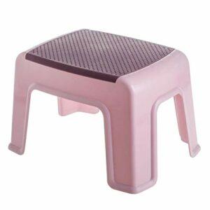 XIAOYUER Ménage en Plastique Petit Tabouret Salon Antidérapant Banc De Bain Enfants Marchepieds À Langer Chaussures Tabourets Enfants Meubles Pouf (Color : Pink)