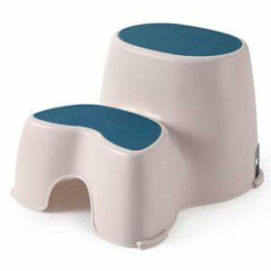XIAOYUER Tabouret en Plastique pour Enfants Lavabo Repose-Pieds Bébé Petit Banc Escalier Escabeau Anti-dérapant Escabeau Bébé (Color : Blue)