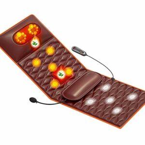 0℃ Outdoor Tapis Massage Chauffé avec 9 Modes de Vibration et Fonctions de Synchronisation, Tape Chauffage Vibrant Matrice Complet Matelas Corps Coussin Masseur Soulagement Masse Lombaire
