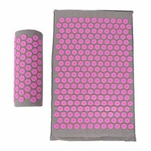 68 x 42 cm vous font sentir tapis de massage détendu pour masser le corps pour améliorer la rigidité et la fatigue du corps pour plusieurs(Light gray powder button)