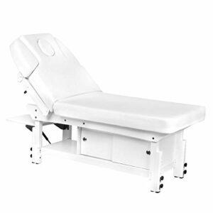 Activeshop Multistore 2002 376A Table de massage en cuir synthétique de qualité supérieure Blanc Charge max. 200 kg