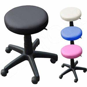 Beltom Tabouret A roulettes RÉGLABLE PIVOTABLE Chaise Atelier Massage MANUCURE Maison – Noir