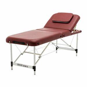 Bienestar Tables de Massage Table De Massage Portable Canapé De Beauté Pliable avec Appui-tête Pieds Réglables Moxibustion Et Lit De Thérapie De Massage (Color : Red, Size : 185 * 60 * 85cm)