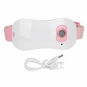 Ceinture de massage à la taille, massage chauffant de soulagement de la douleur Masseur chauffant de l'utérus avec fonction de vibration et conception de température à 5 vitesses (avec câble USB)
