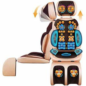 Chaise De Bureau De Bureau Masseur De Cou pour Chaise, Tapis De Massage Complet du Corps avec Chaleur, Coussin De Massage par Vibrations De Pétrissage pour Le Cou, Le Dos, Les Épaules, Réglable en Ha