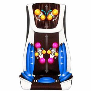 Chaise de massage Coussin de siège, Shiatsu massage du dos Chaise de massage Coussin de siège avec la fonction chaleur et vibrations, Relax Full Back muscles for la maison, le bureau et voiture