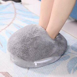 Chauffage USB, chauffe-pieds sûr à utiliser, doux et confortable 15 * 11 * 4.7in pour le bureau à domicile(gray)