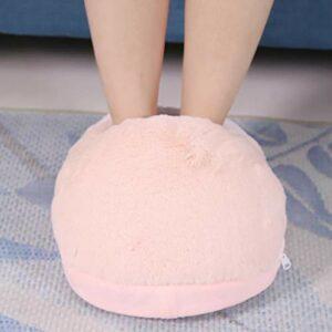 Chauffe-pieds USB, chauffe-pieds chauffants, tissu en peluche de qualité supérieure, chauffe-pieds électrique, facile à nettoyer, doux et confortable, pour chauffe-pieds(powder)
