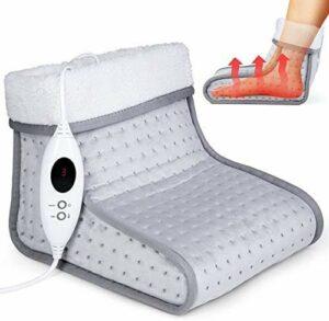 Chaufferettes   pieds de chauffage électrique, six niveaux de température et timers chauffe-pieds,Grey