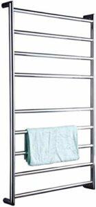 Chauffe-serviettes chauffant – 9 barres de 9 cercles – En acier inoxydable 304 – Fixation murale – Pour salle de bain