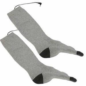 Chaussettes chauffantes thermiques, bas chauffants intelligents chaussettes chauffantes intelligentes respirantes, réglables pour la maison d'hiver(gray)