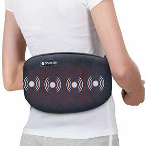 Comfier Coussin chauffant pour les maux de dos – Ceinture enveloppante chauffante pour le ventre,massage par vibration avec arrêt automatique, soulager des douleurs lombaires, abdominales, jambes