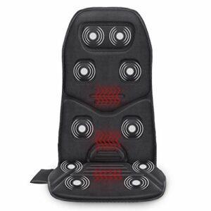 COMFIER Coussin de siège de massage avec chaleur – 10 moteurs de vibration, 3 coussinets chauffants, masseur de dos pour chaise, pour le soulagement des maux, Cadeaux idéaux