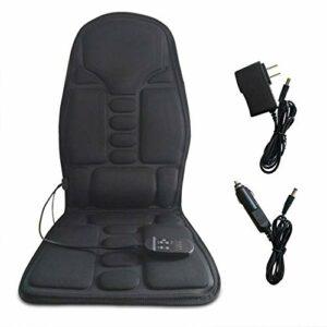 Coussin de siège de Massage électrique Portable avec Chaleur – 7 Vibrations de Moteur et 4 Modes 3 Vitesses, pour Les Hanches de la Taille de l'épaule et du Dos, soulagement Musculaire de la Douleur