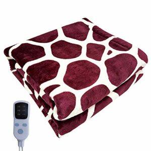Couverture chauffante électrique USB de sécurité – Portable – Pour l'hiver – En coton – Lavable – 60 x 80 cm