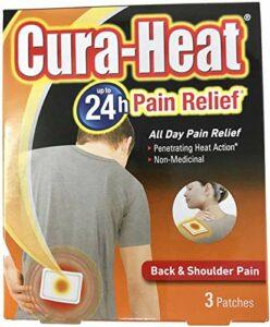 Cura Heat Lot de 3 coussinets chauffants pour douleurs du dos et des épaules