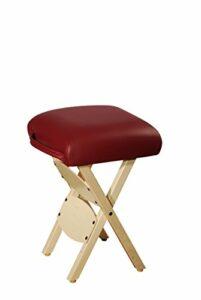 D00194 Master Massage Tabouret de travail pliable pour table de massage, tabouret America Brand Burgund