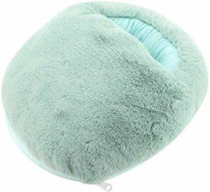 Doux, confortable, respirant et durable chauffe-pieds coussin chauffant pour des chaussons de chauffage en hiver,Light blue