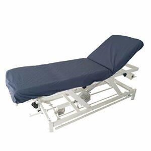 Drap housse élastiqué de protection pour table médicale, kiné, massage, imperméable et désinfectable (Bleu Nuit)