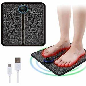 EMS Massage des Pieds,Masseurs Électriques pour Les Pieds,EMS Leg Reshaping Foot Massager Electric Massage Machine, Favorise la Circulation Sanguine,soulagement de la Douleur Musculaire (bouton, Noir)