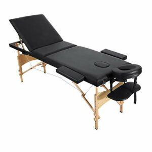 Entil Table de Massage Pliante, 3-Section, Lit de massage, Professionnelle Cosmétique Table