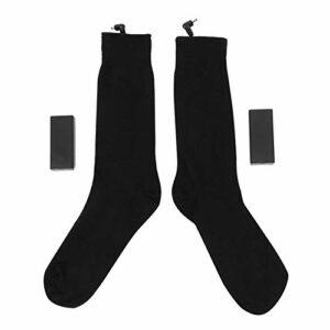 Fybida Chaussettes chauffantes électriques Chaussettes Chauffe-Pieds Pratiques respectueuses de la Peau durables pour protéger Le Pied à Usage Domestique