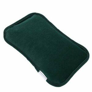 Fybida Coussin Chauffant électrique en Flanelle Rechargeable pour Femmes Hommes(Dark Green)