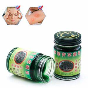 Haplws 50g Baume De Massage Thaïlandais Vert Pommade À Base de Plantes Massage Articulations Musculaires Entorse Mal de Baume Anti-Moustique Antiprurigineux Crème