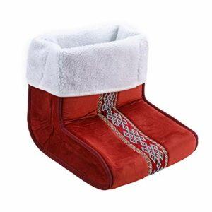 harayaa Coussin Chauffant à 5 Vitesses pour Masseur de Pieds électriques d'hiver avec Doublure Amovible – Rouge