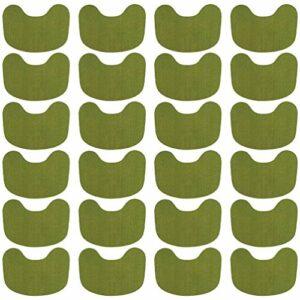 HEALLILY 24 Pièces Vertèbre Cervicale Soulagement de La Douleur Patch Chaude Moxibustion Plâtre Soulagement de La Douleur Absinthe Autocollant Vert